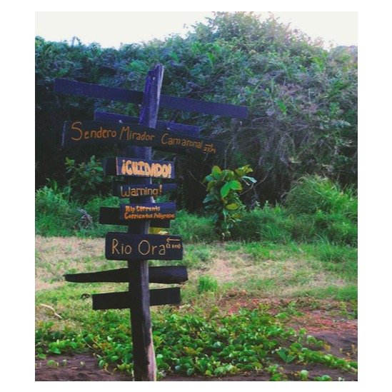Camaronal Wildlife Refuge, Costa Rica (photo by Andrew Jenkins, sign by yours truly and the Rustic Pathways crew)