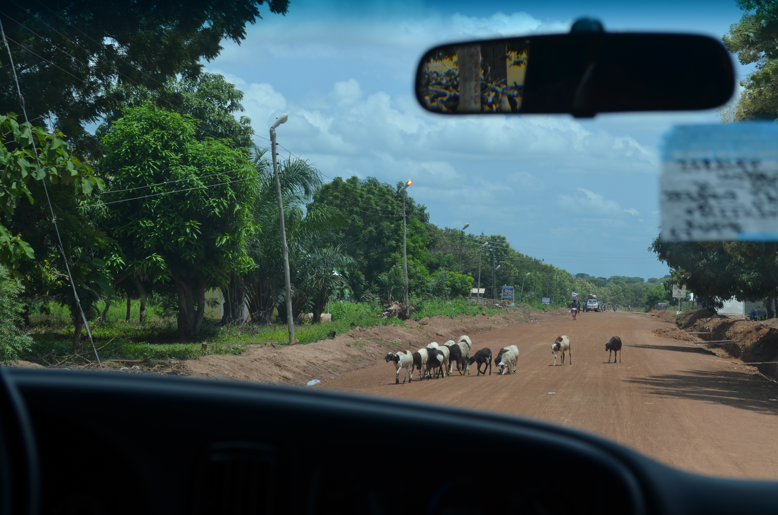 One of the main roads on the way to Atebubu, where Brother Paul Owusu is pastor.