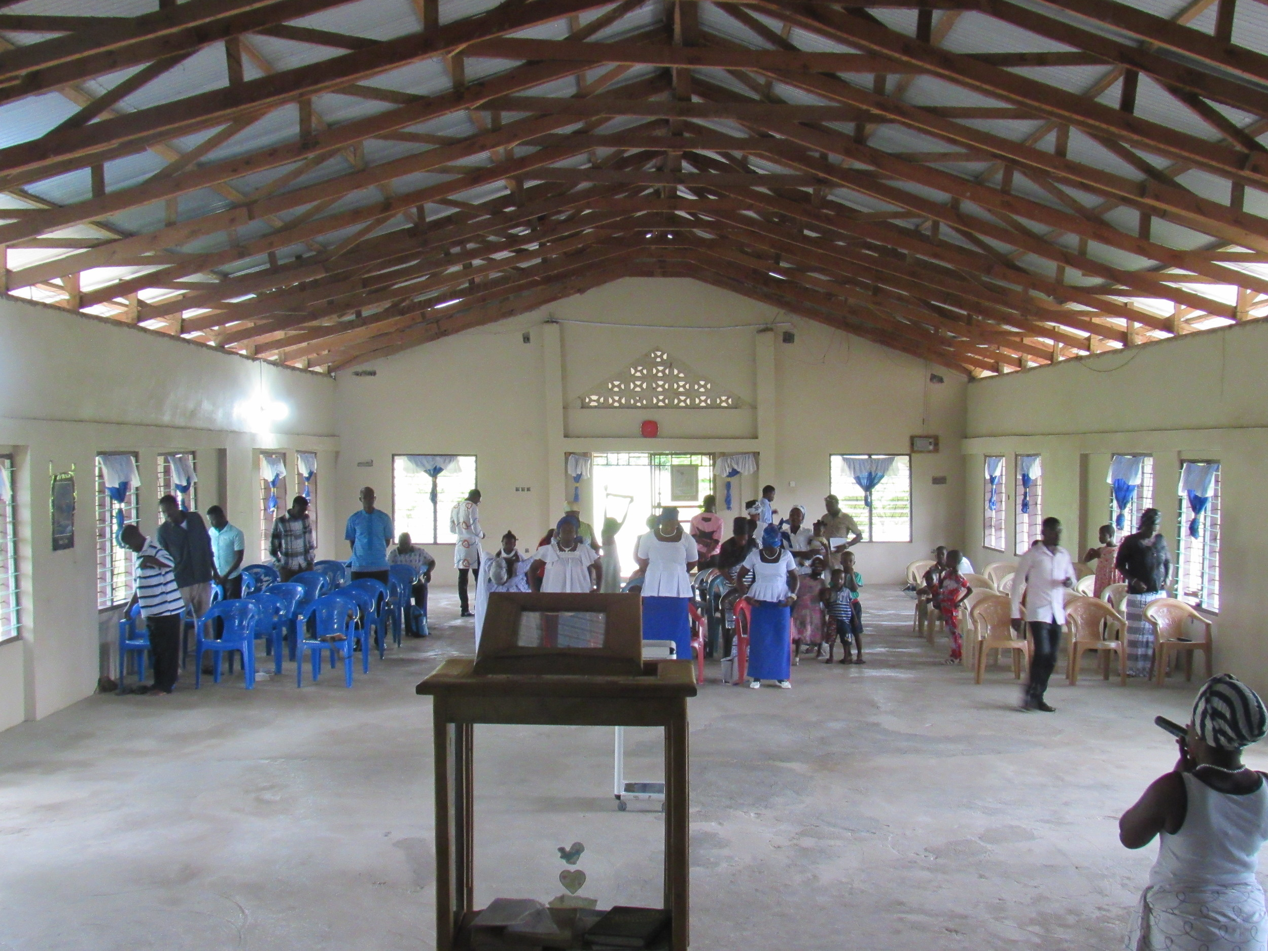 This is Ebeneezer Missionary Baptist Church on Sunday Morning.