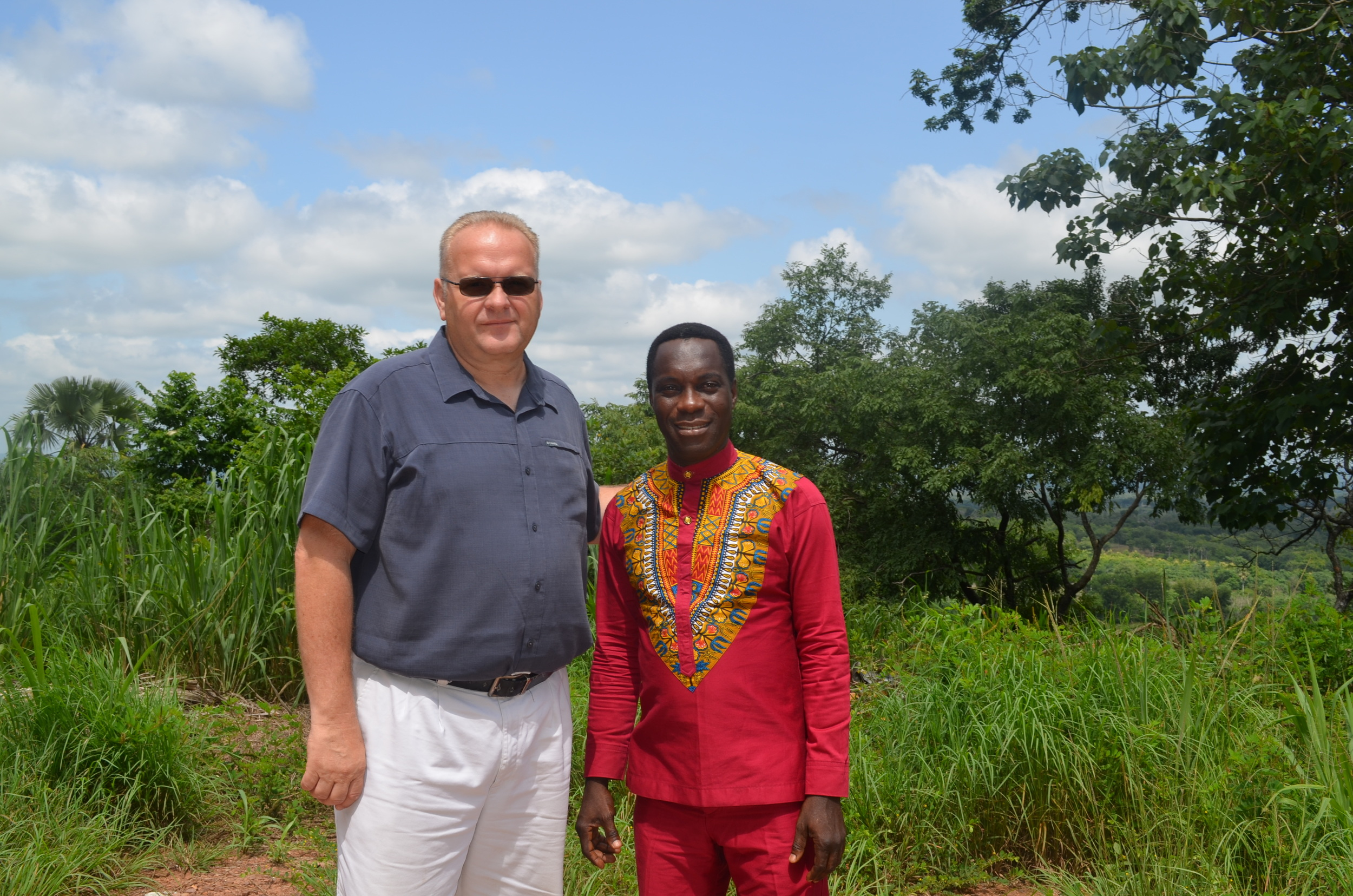 Brother Jeff and Brother Paul taking a picture on our way to Atebubu where Brother Paul lives.