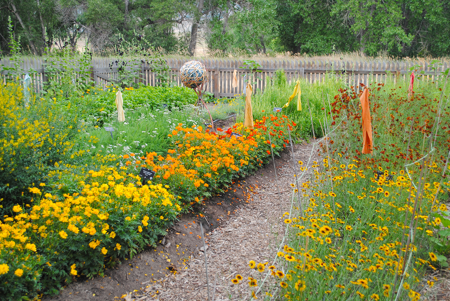 The Chatfield Farms dye garden featured a variety of common garden plants that can be used to color-change clothes.