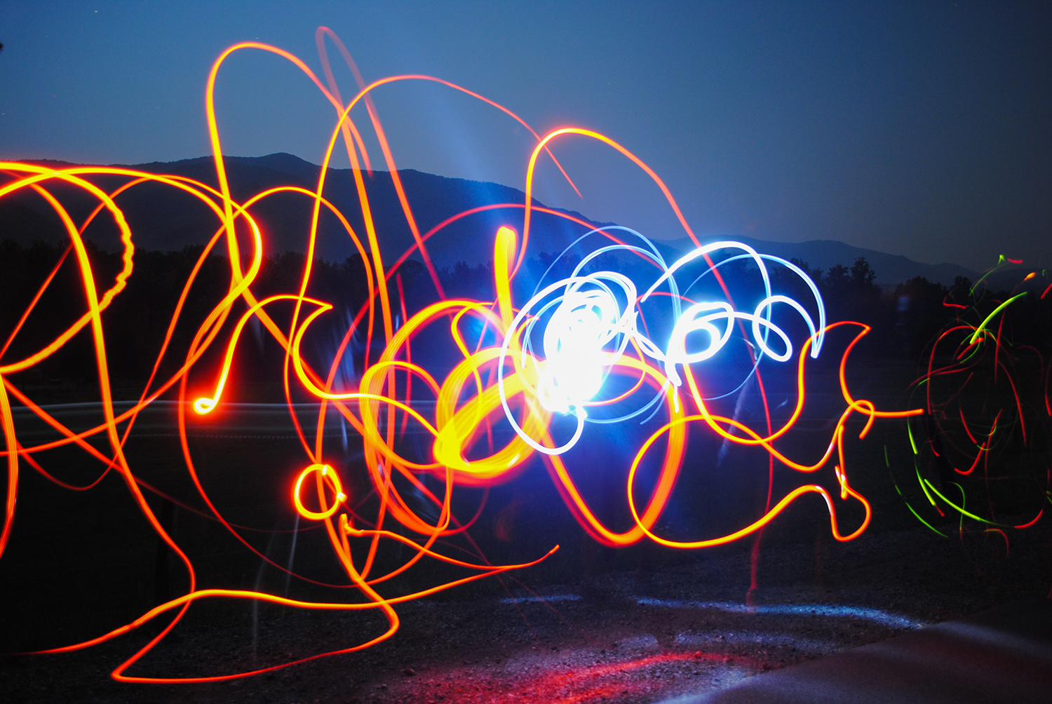 Light art fascinates me.  I need to do more of it.