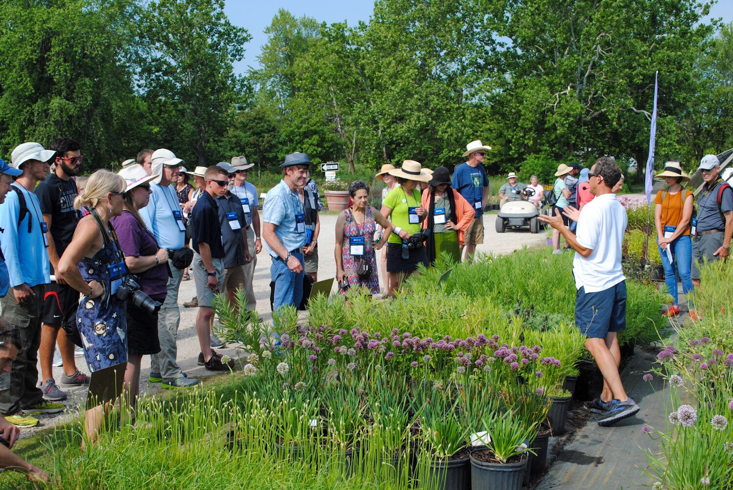 Here Brent shows the PPA group many new plant releases he's developing.