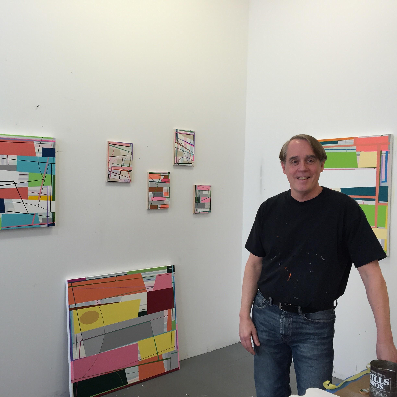 Gary Petersen in his studio.