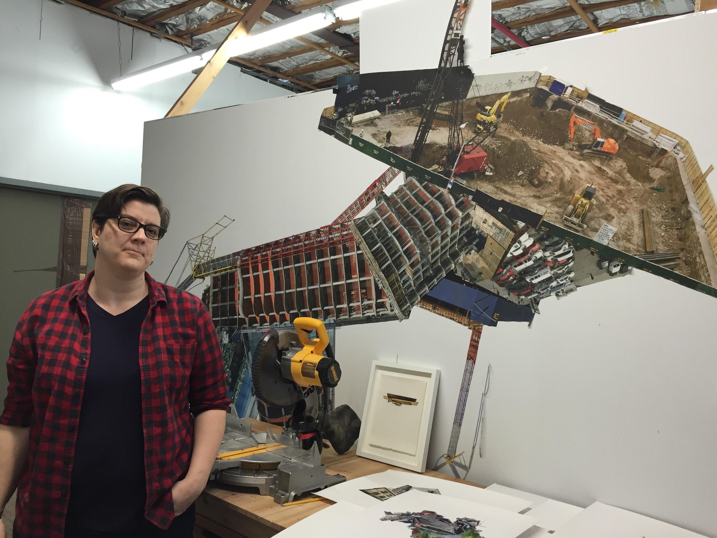 Jennifer Williams in her studio.