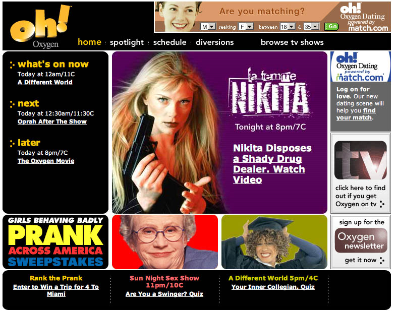 2003: Oxygen.com
