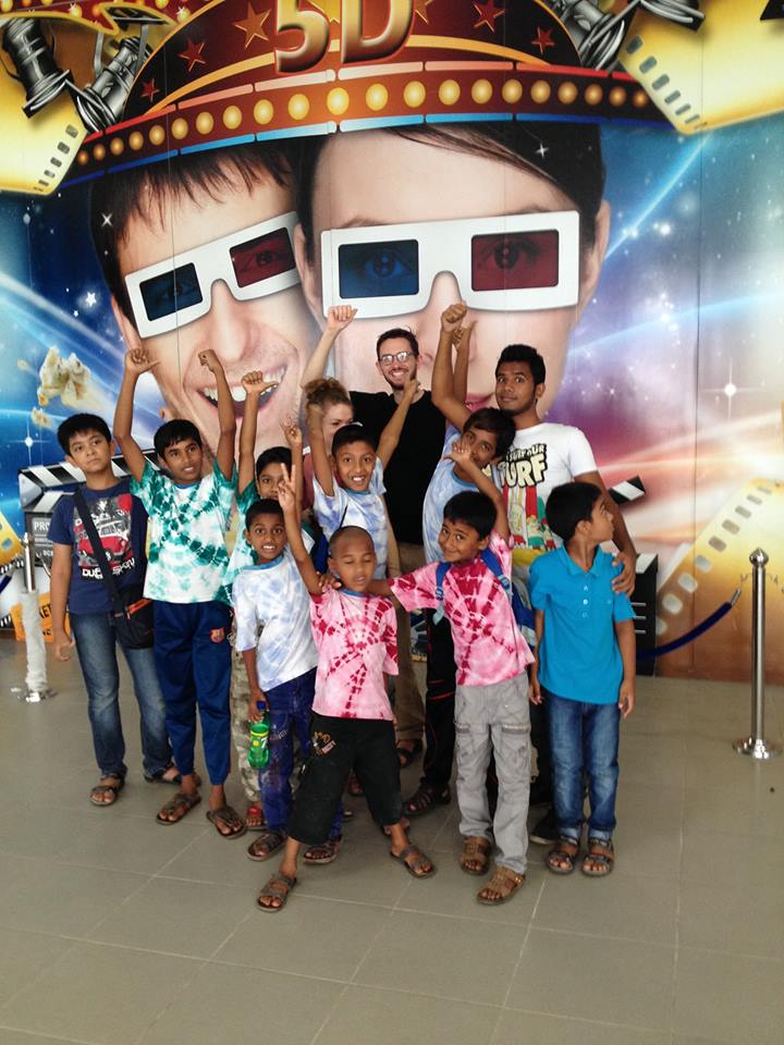 On a trip to the 3D Cinema!