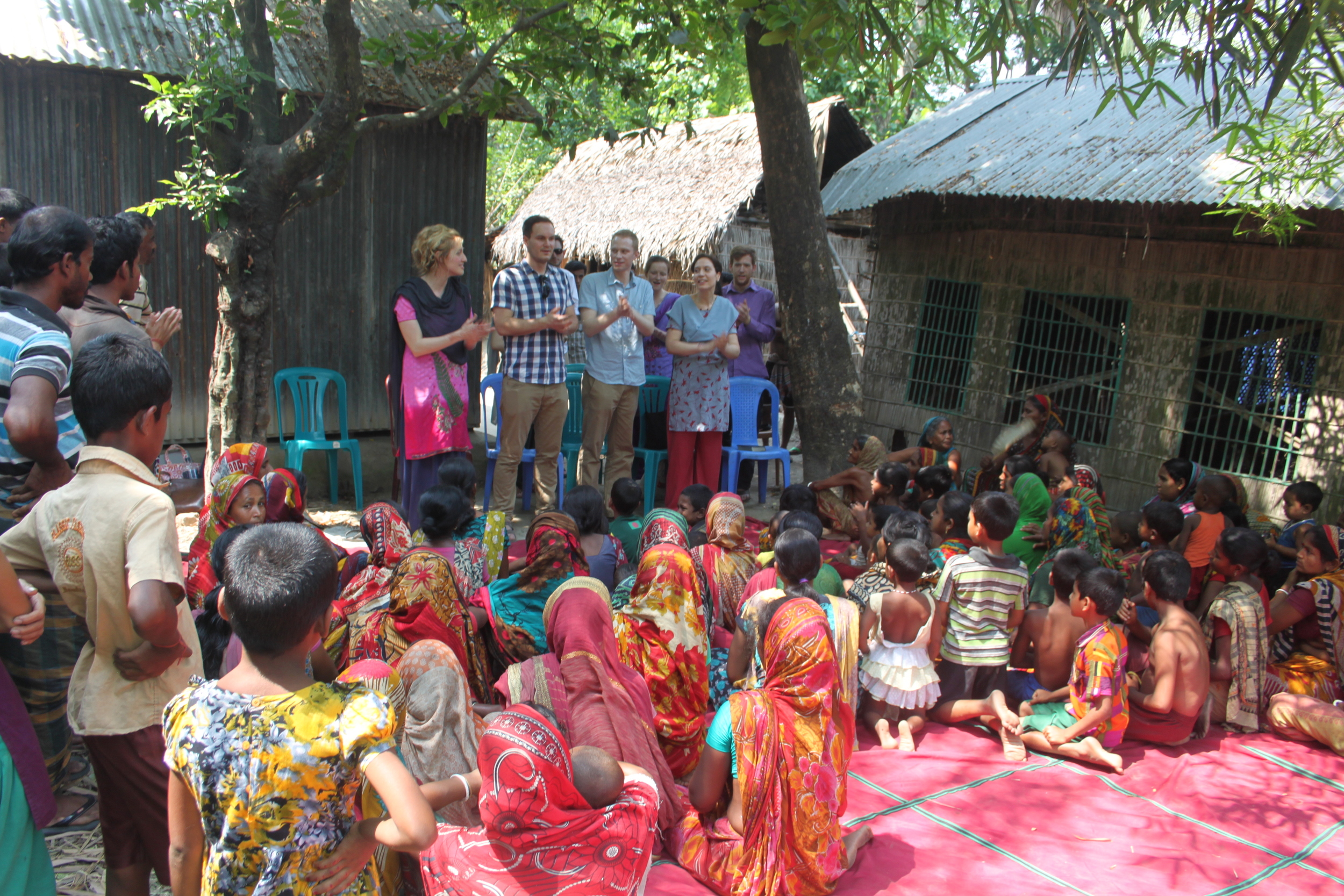 Sharing a song in the village of one of SEED Ministries sponsored pastors