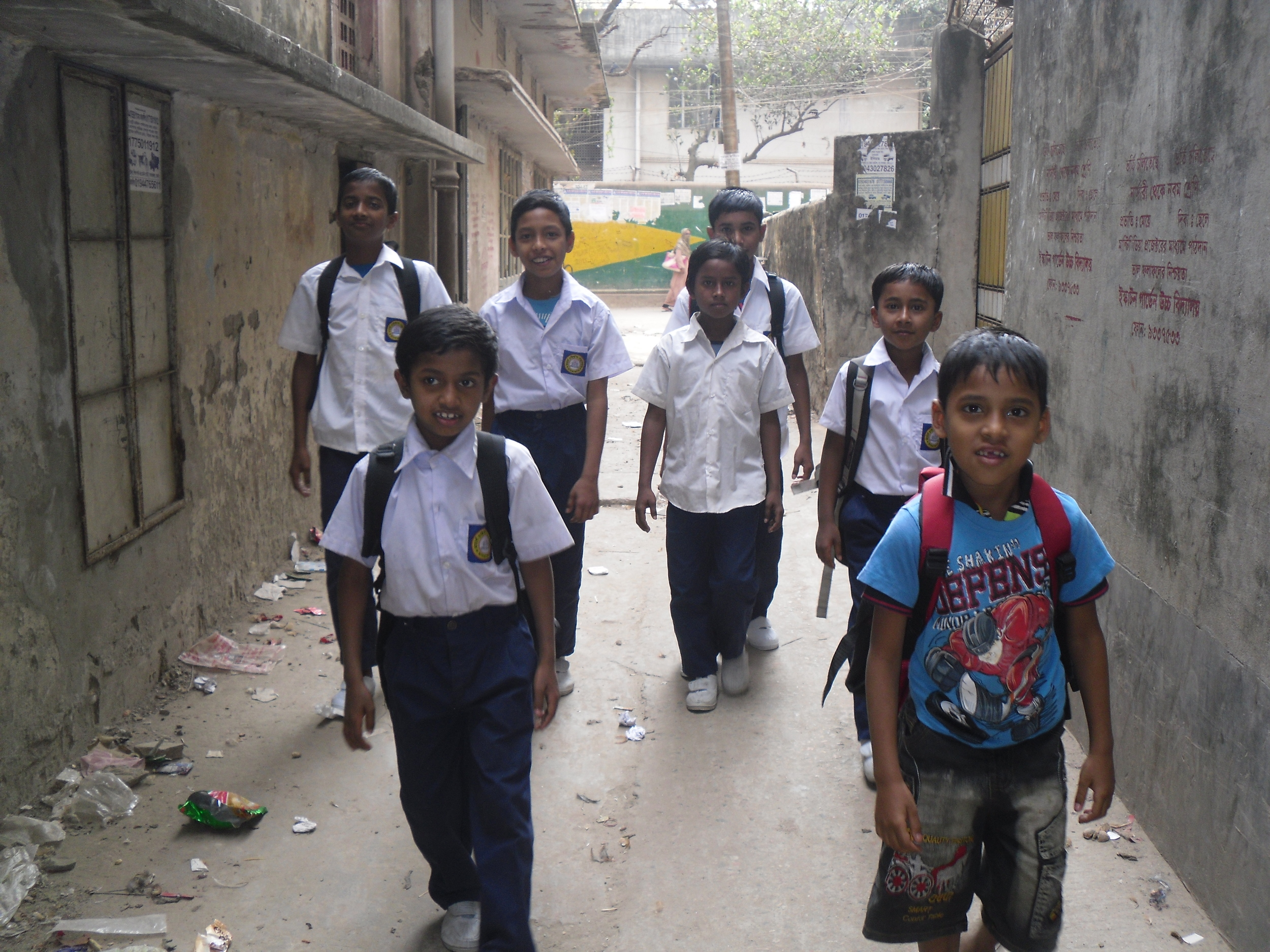 The Smart Kids in their new school uniforms!