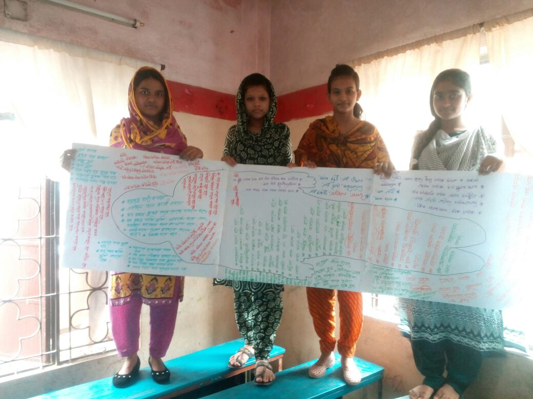 During a session on what it means to be a young women in Bangladesh.