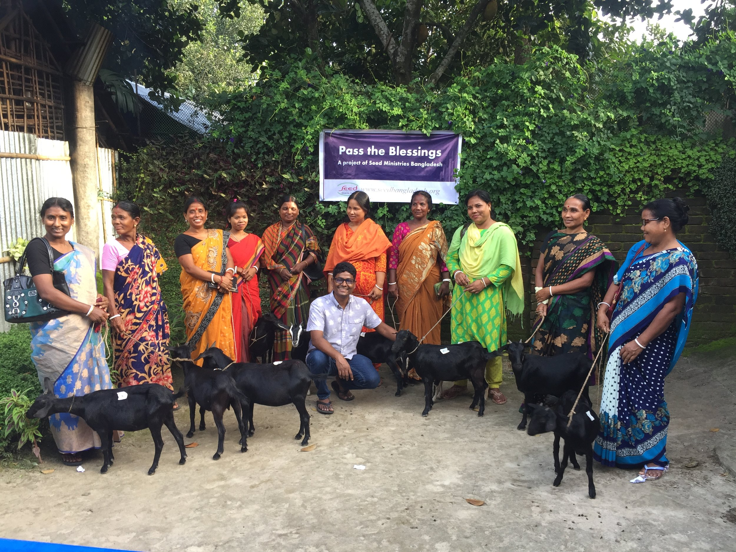 Pastor's wives are happy to get goats