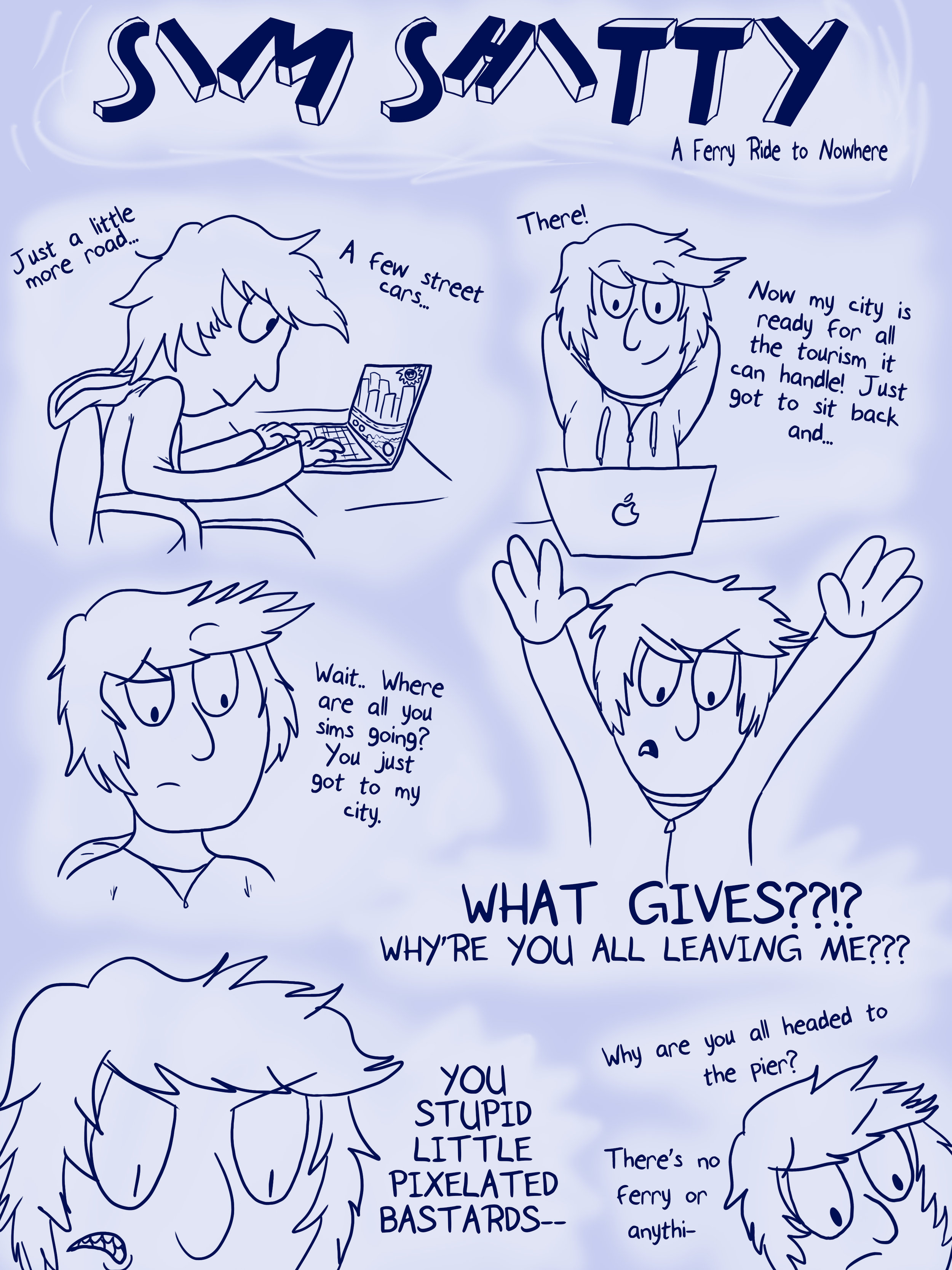 Comic from my time playing  Sim City               Page 1