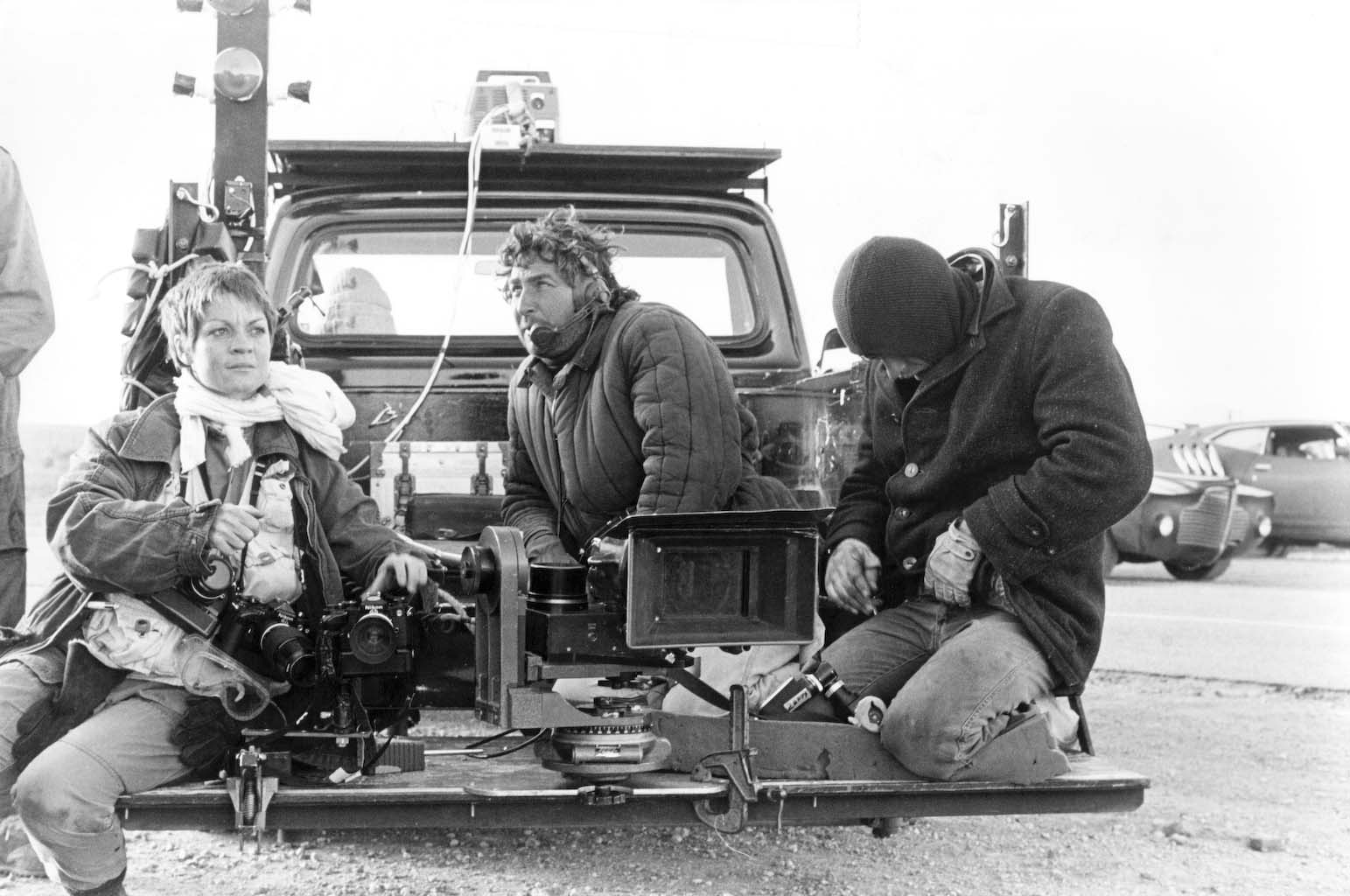 1981 on set of Mad Max 2 in Broken Hill. Australia.
