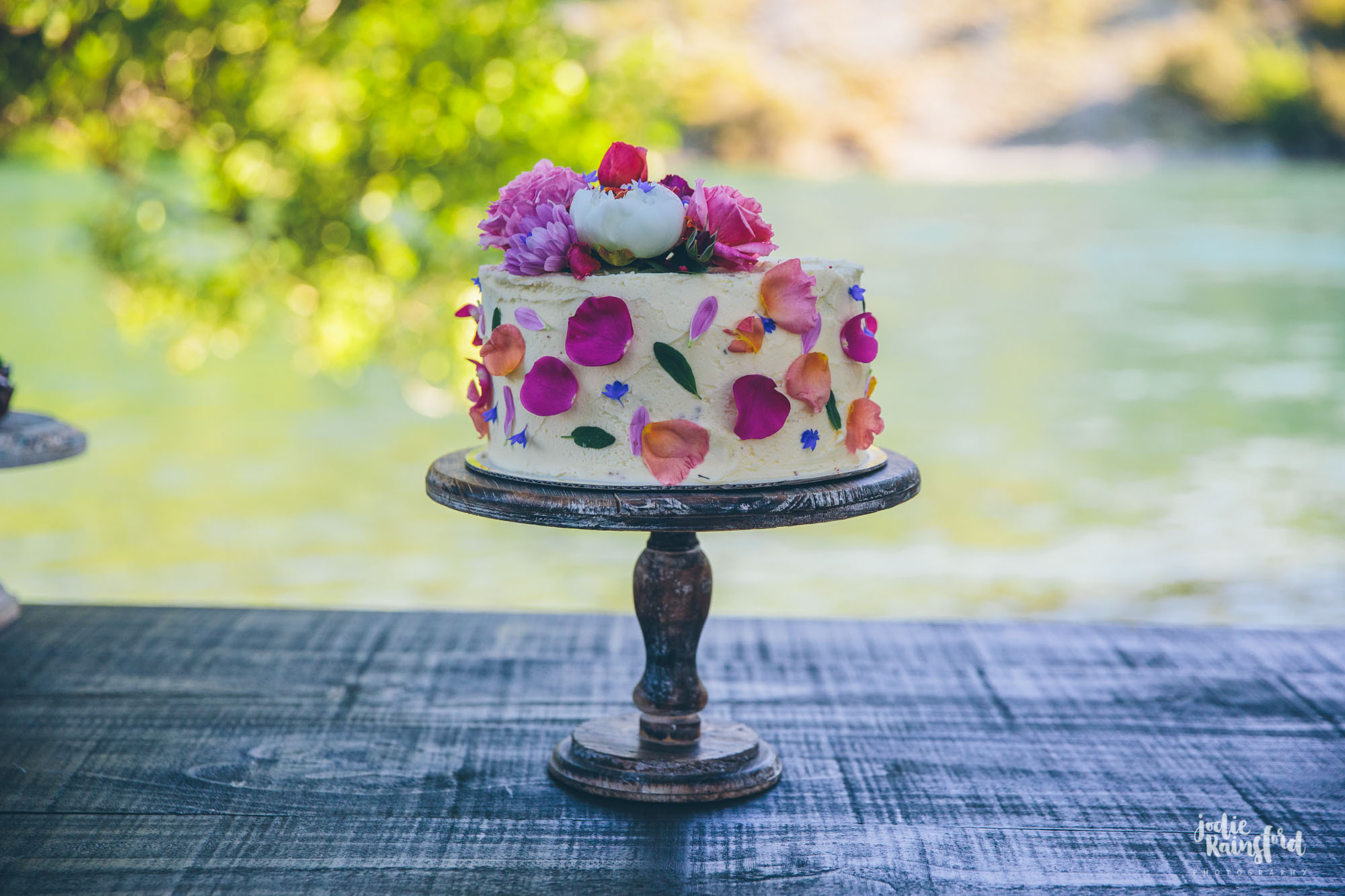 Special floral birthday cake