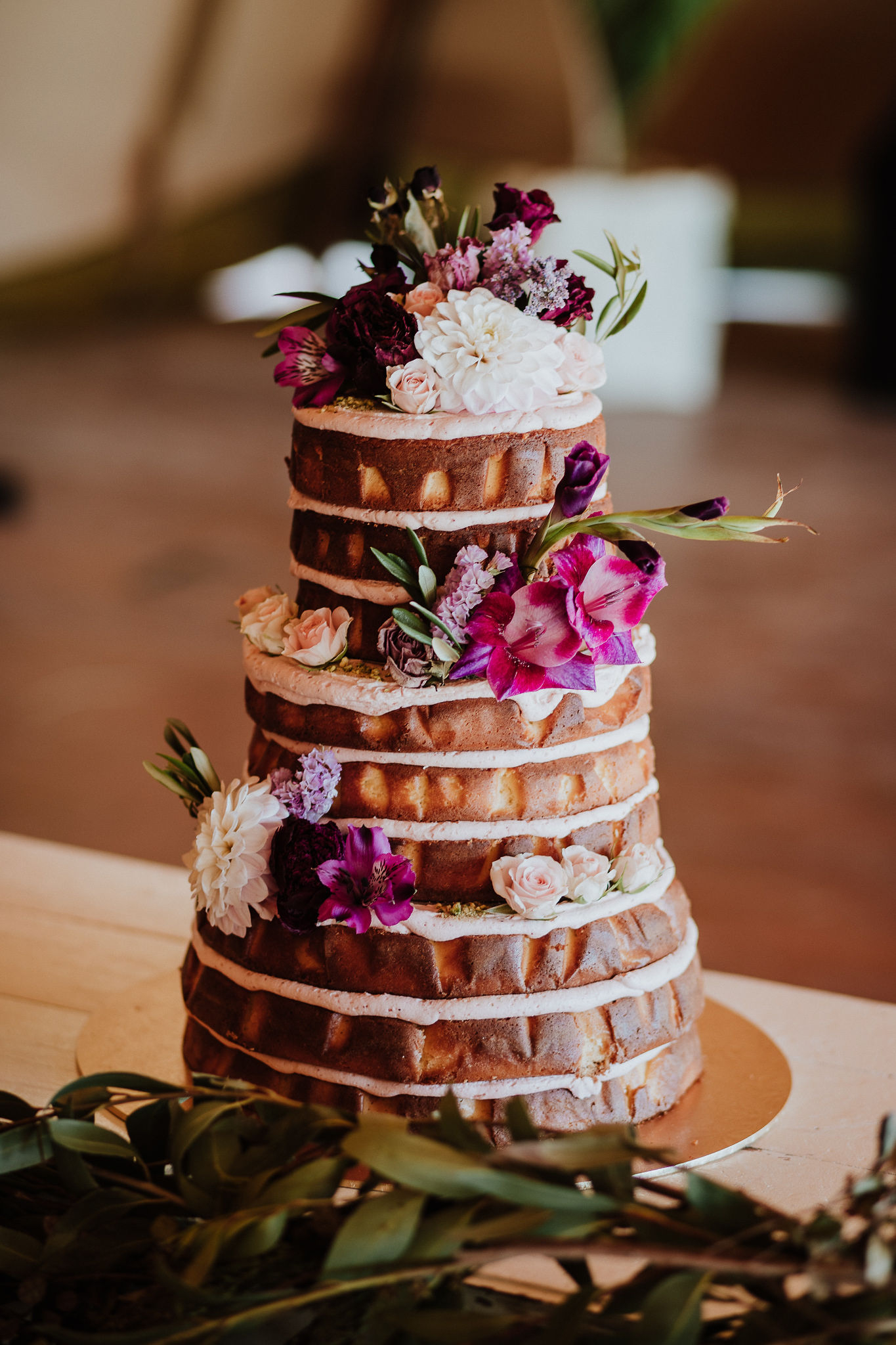 Naked Wanaka wedding cake