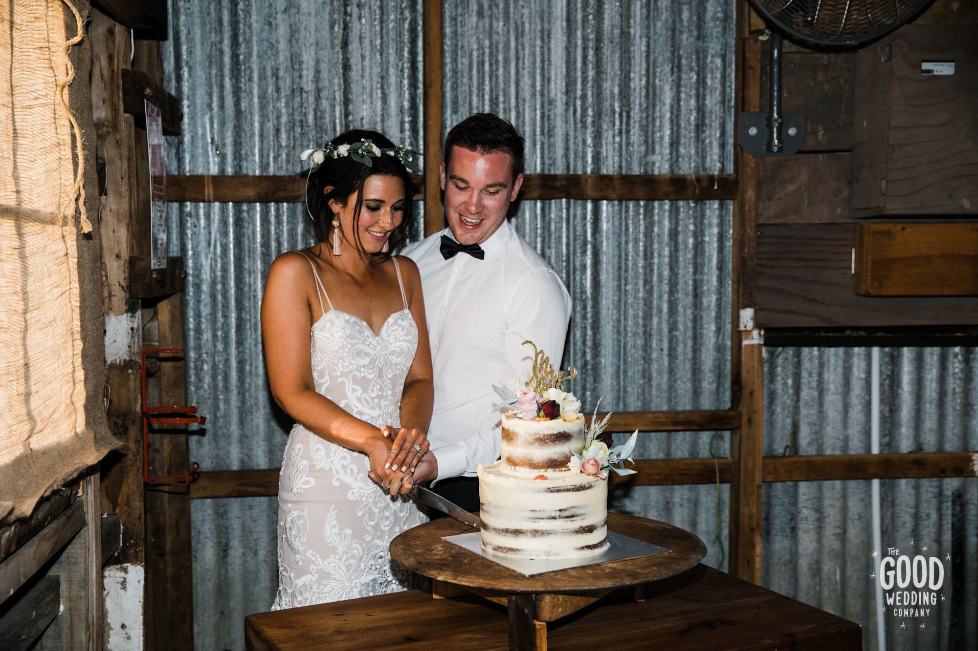 Wanaka semi naked wedding cake