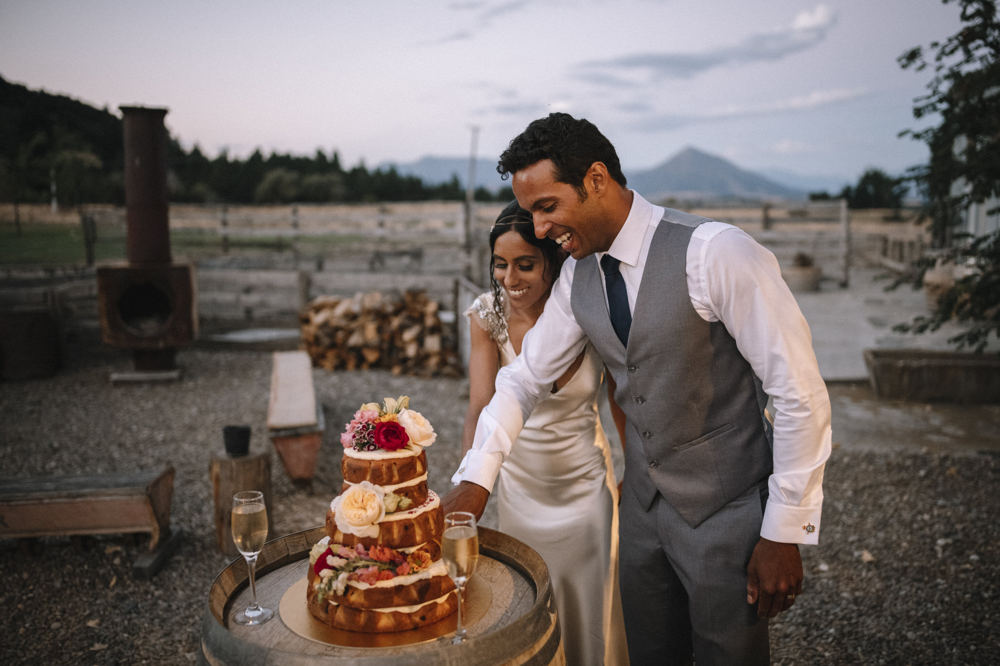 Wanaka naked wedding cake