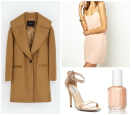 Zara, Steve Madden, Asos, Essie nail Lacquer Wear the same jacket in a monochromatic manner.