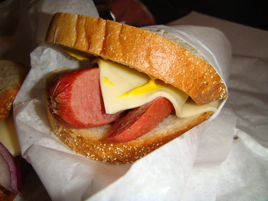 Joe Jost's YUM sandwich