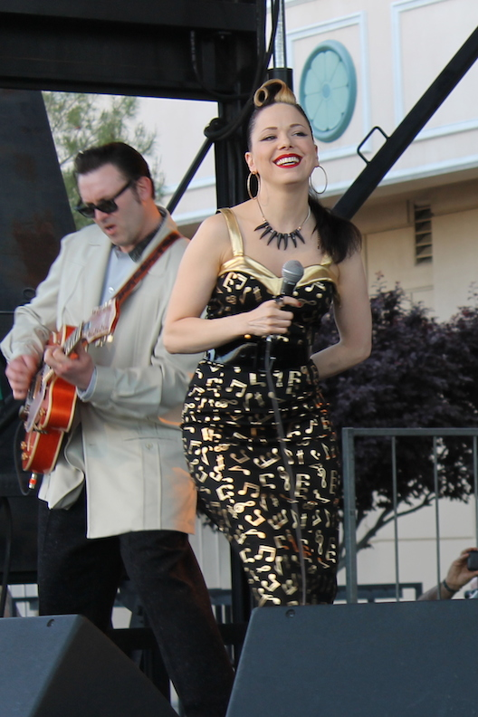 "Imelda May and guitarist/husband Darrel Higham close out Saturday evening with a hits-filled set as well songs from their new album ""Tribal"" which is due to be released Monday, April 28."