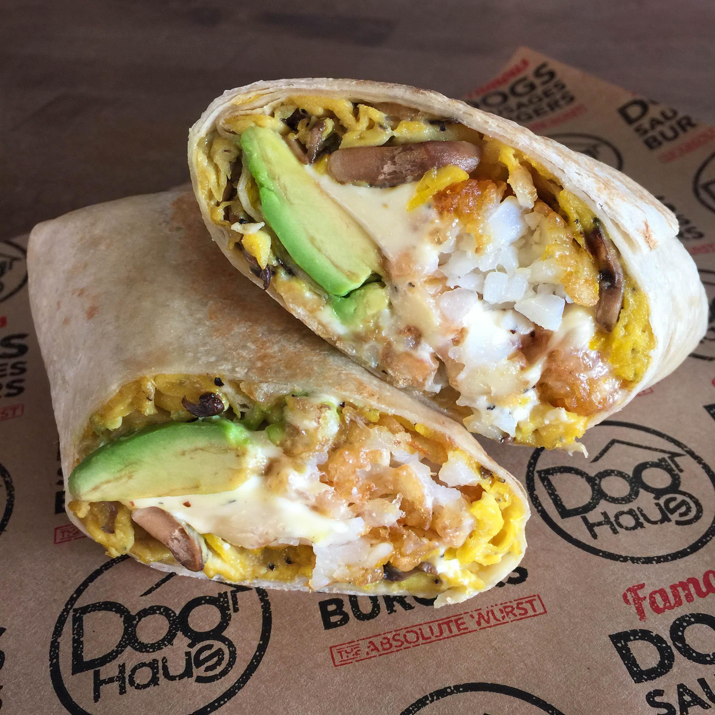 Veggie Breakfast Burrito - Photo courtesy of Dog Haus