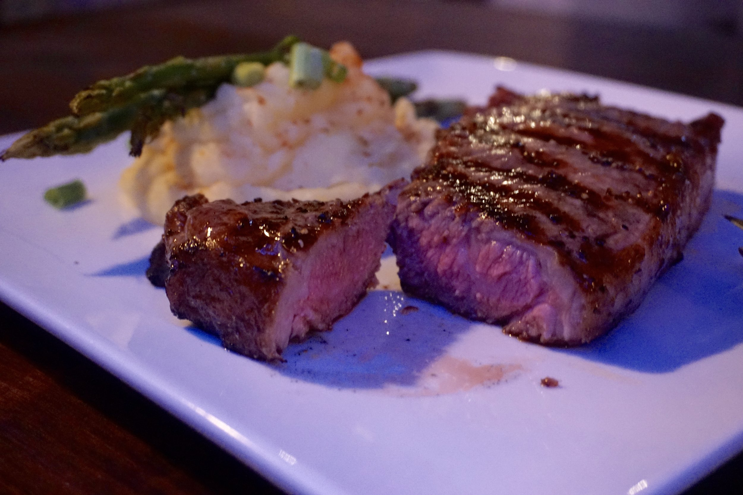Bourbon Glazed Steak