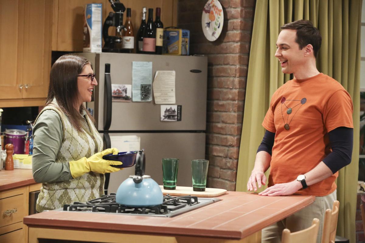 Mayim Bialik and Jim Parsons in  The Big Bang Theory.   Photo Credit: IMDB