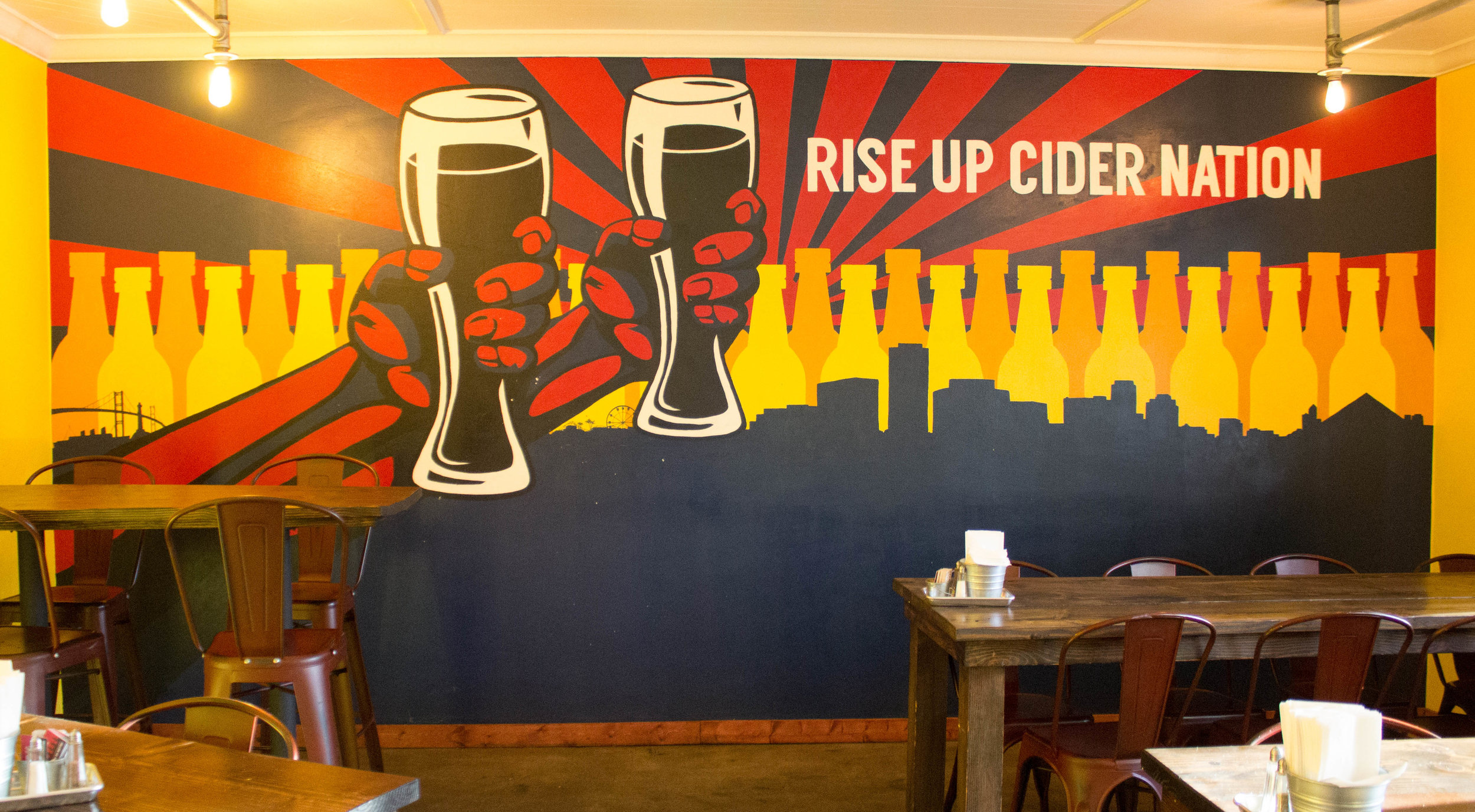 Inside of Great Society Cider & Mead.  Photo Credit: Jaron Cofield