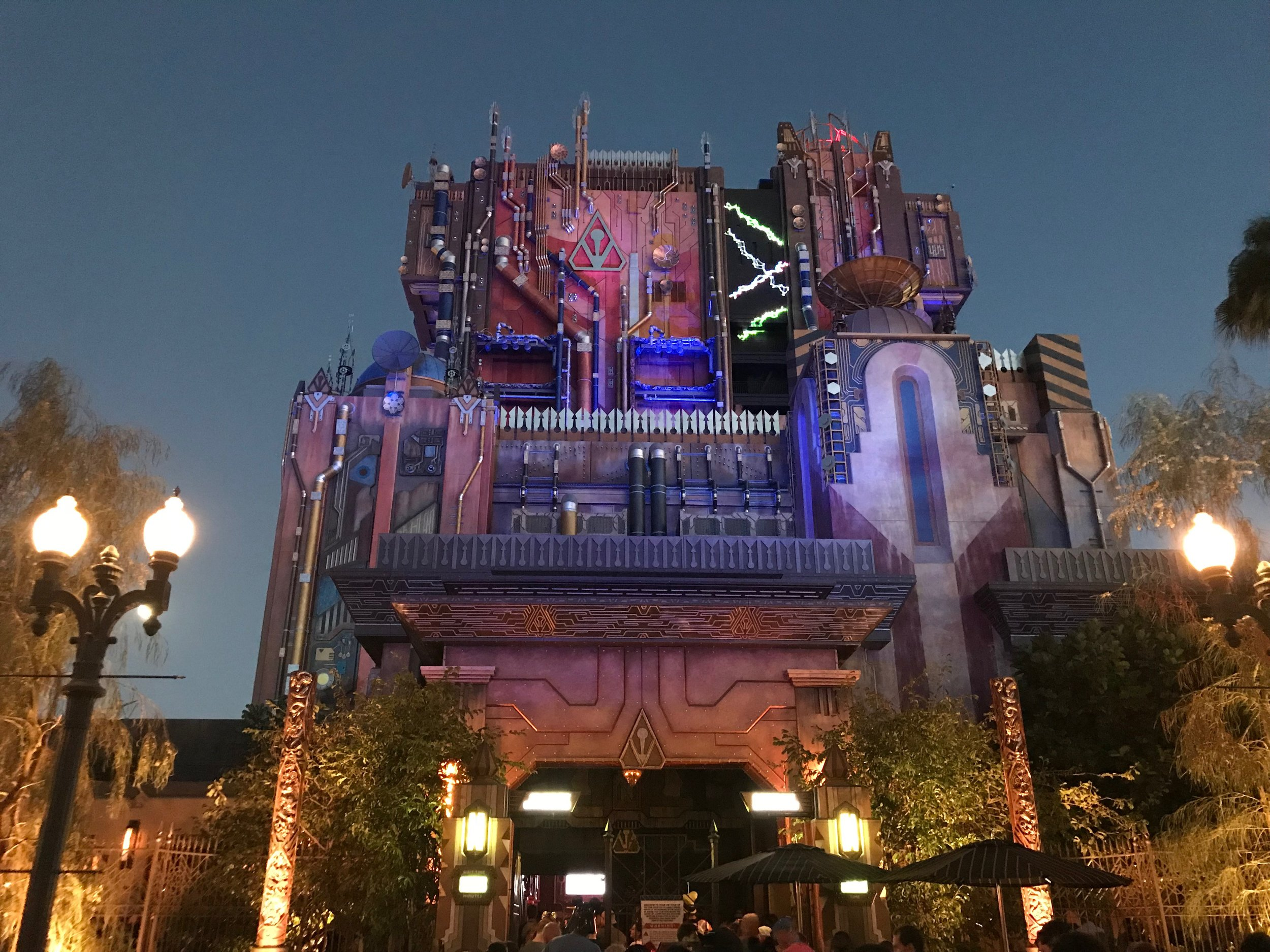 Guardians of the Galaxy: Mission Breakout transforms once the night hits.  Photo Credit: Zachary Anderson-Yoxsimer