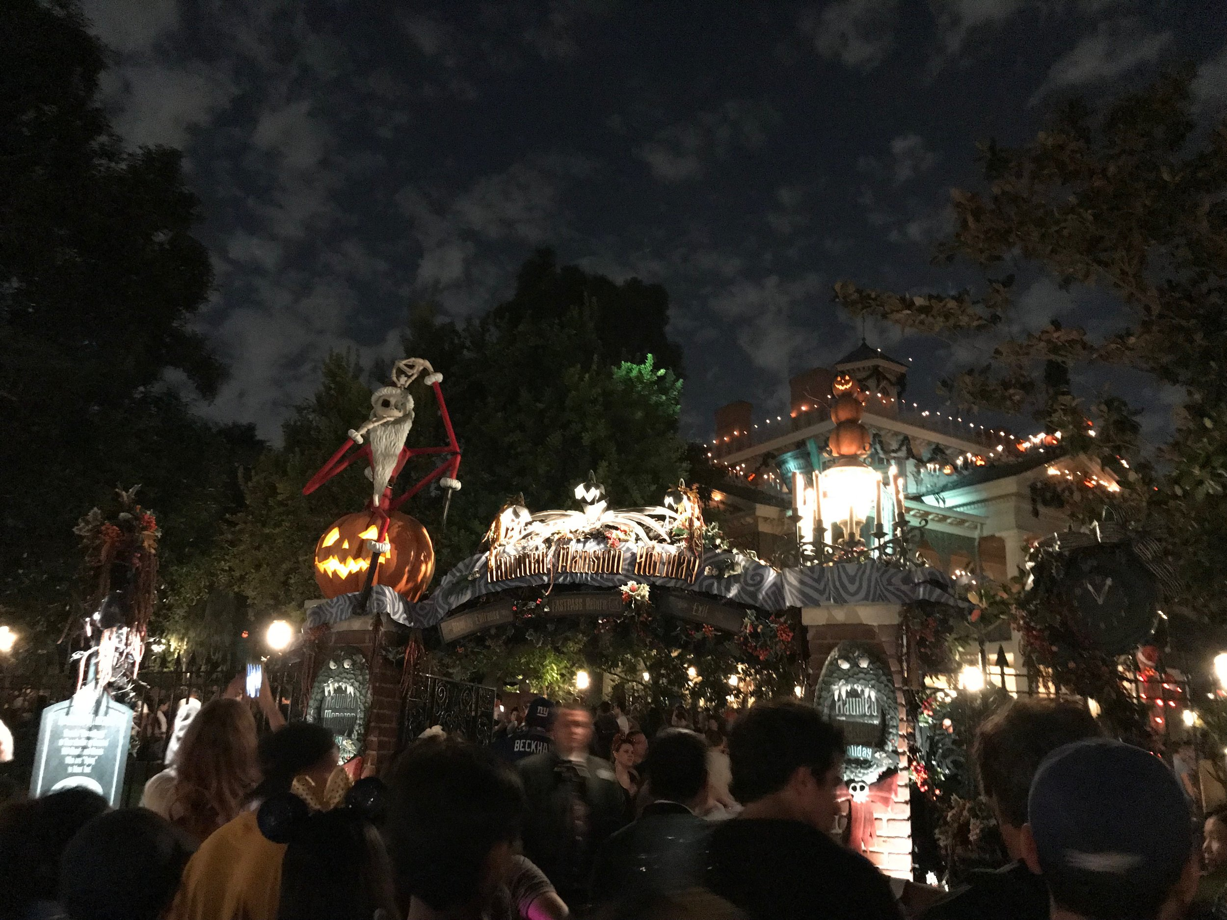 Haunted Mansion Holiday gets a Jack Skellington makeover for the season.  Photo Credit: Zachary Anderson-Yoxsimer