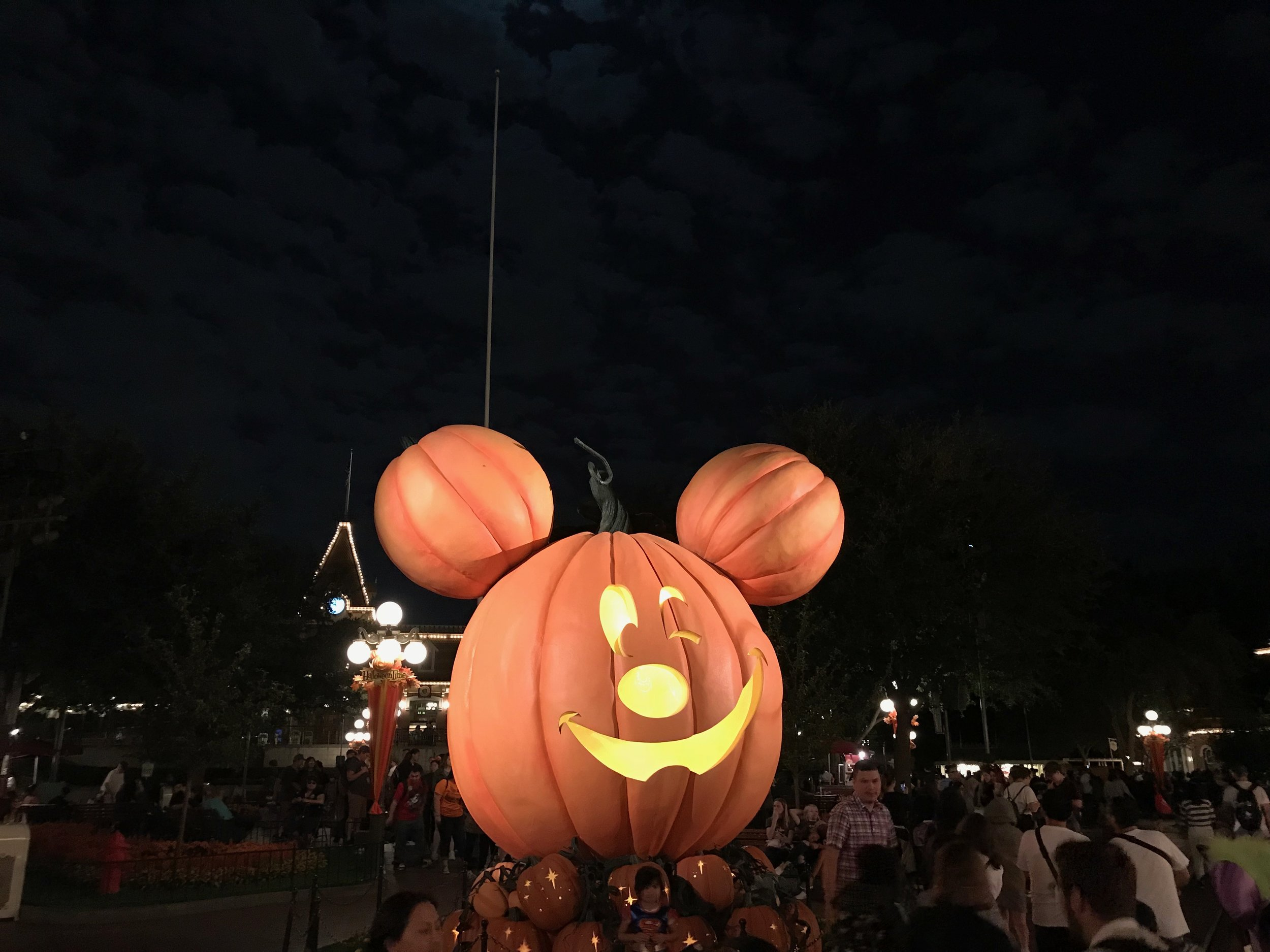 The coveted photo spot: the pumpkin on Main Street.  Photo Credit: Zachary Anderson-Yoxsimer