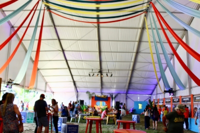 The Tasting Tent at the festival.