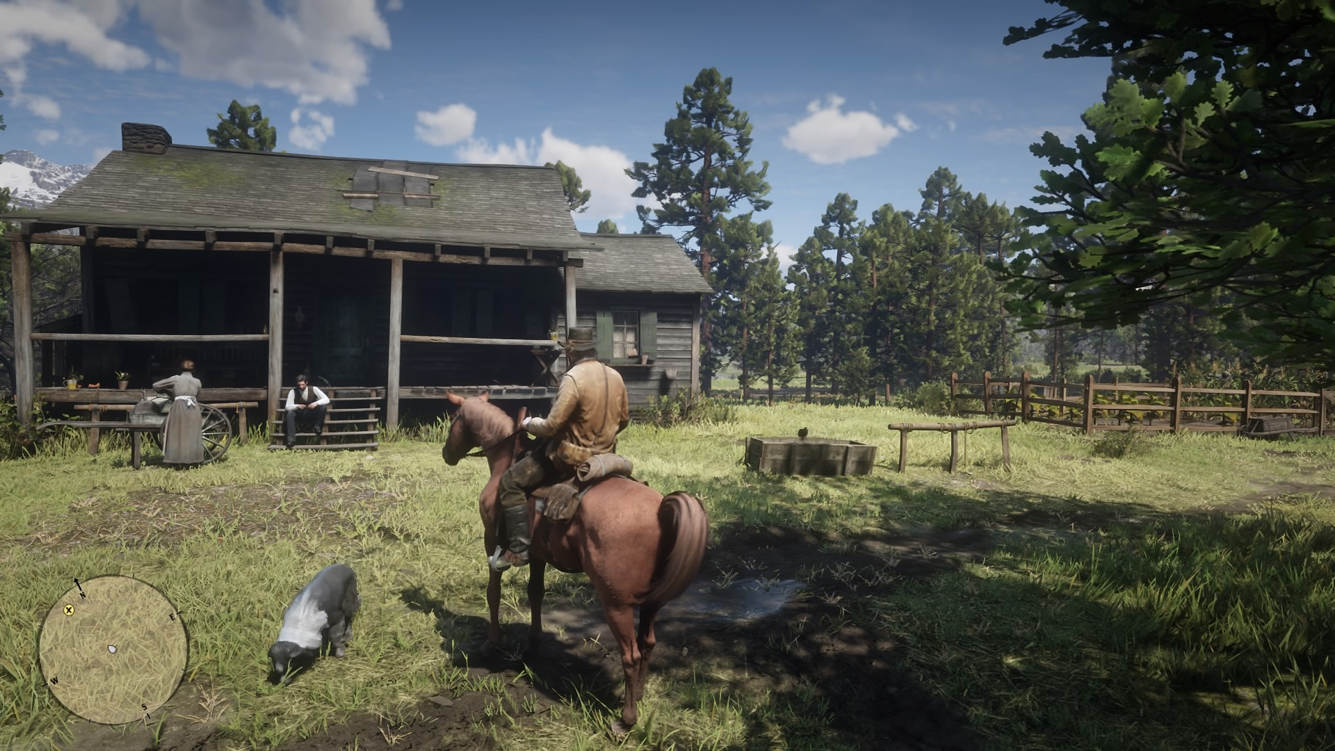 Screenshot By Jacob Ybarra (Playstation 4)  From large towns to small farm houses, every aspect of the open world is alive and full of interesting and unique characters.