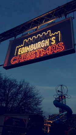 Photo: Natalie Young  The entrance to the Edinburgh Christmas Markets.