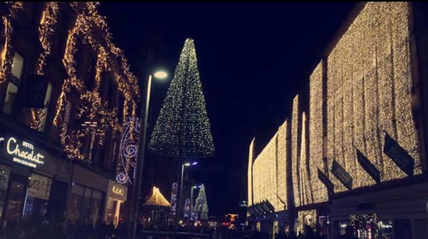 Photo: Natalie Young  Glasgow's famous Sauchiehall Street or 'The Style Mile' of shops, decorated at Christmas.