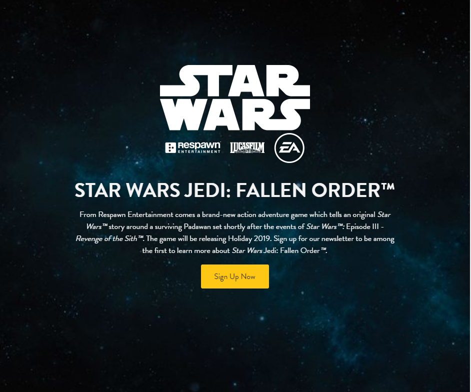 Photo from Stars Wars Jedi  website