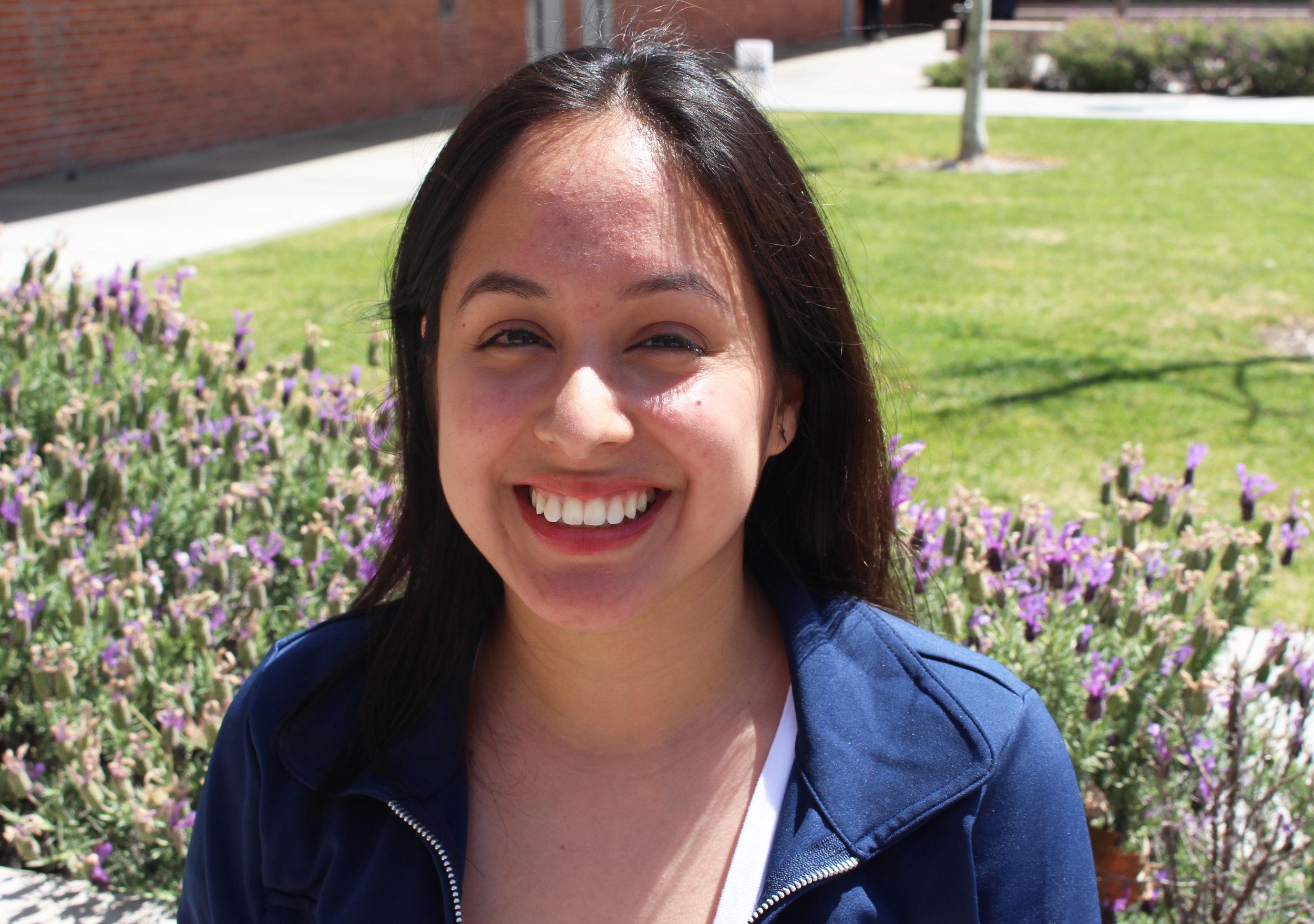 Jenny Rodriguez, 22, communications major. Photo by Leslie Veliz.