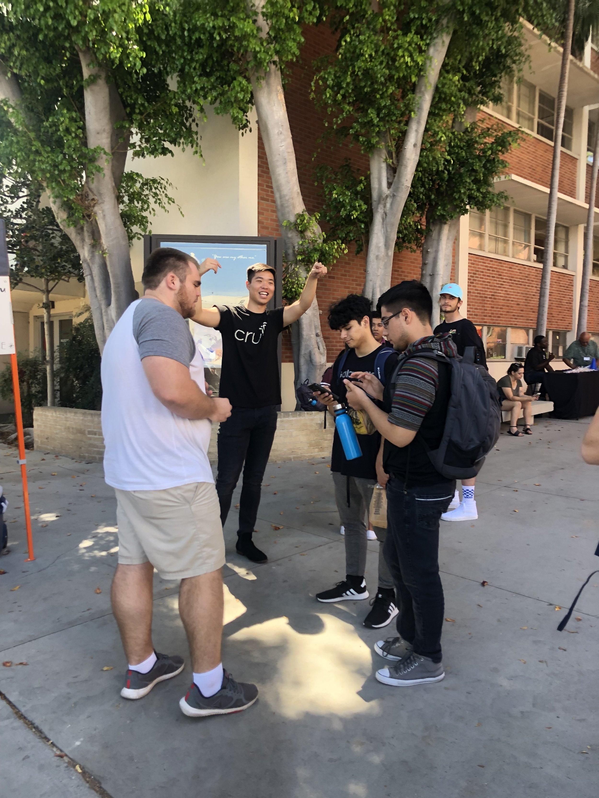 Students who visited booths received free goodies and connected with the club's current officers.