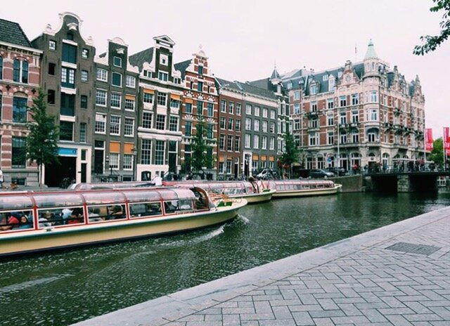 Amsterdam is known for its canals.