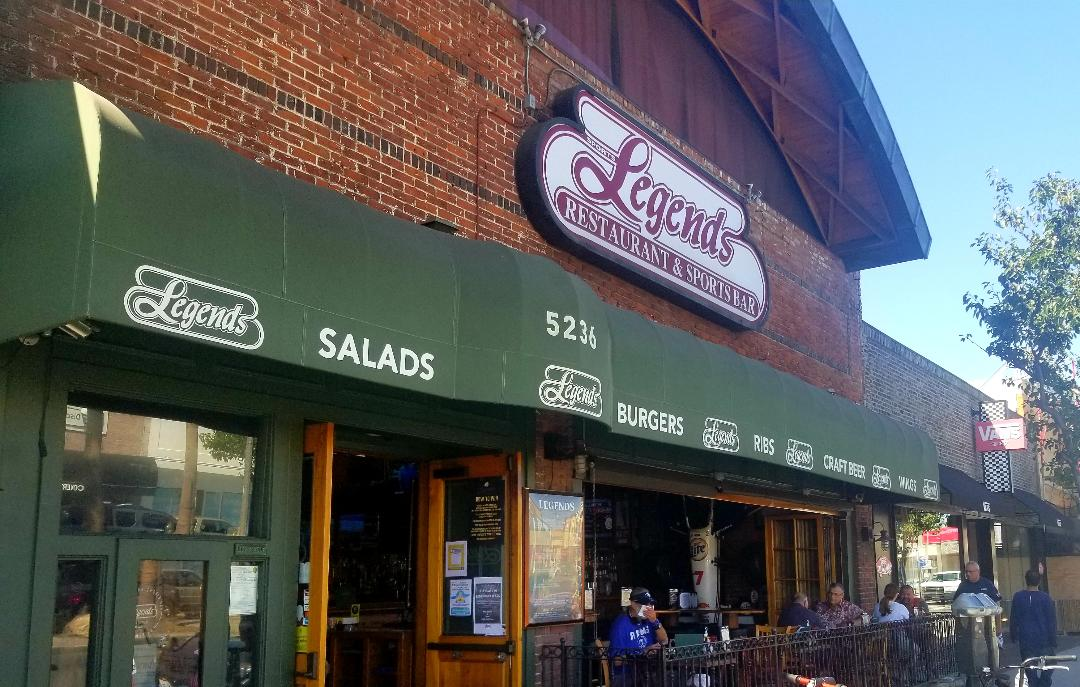 Legends provides outdoor seating.
