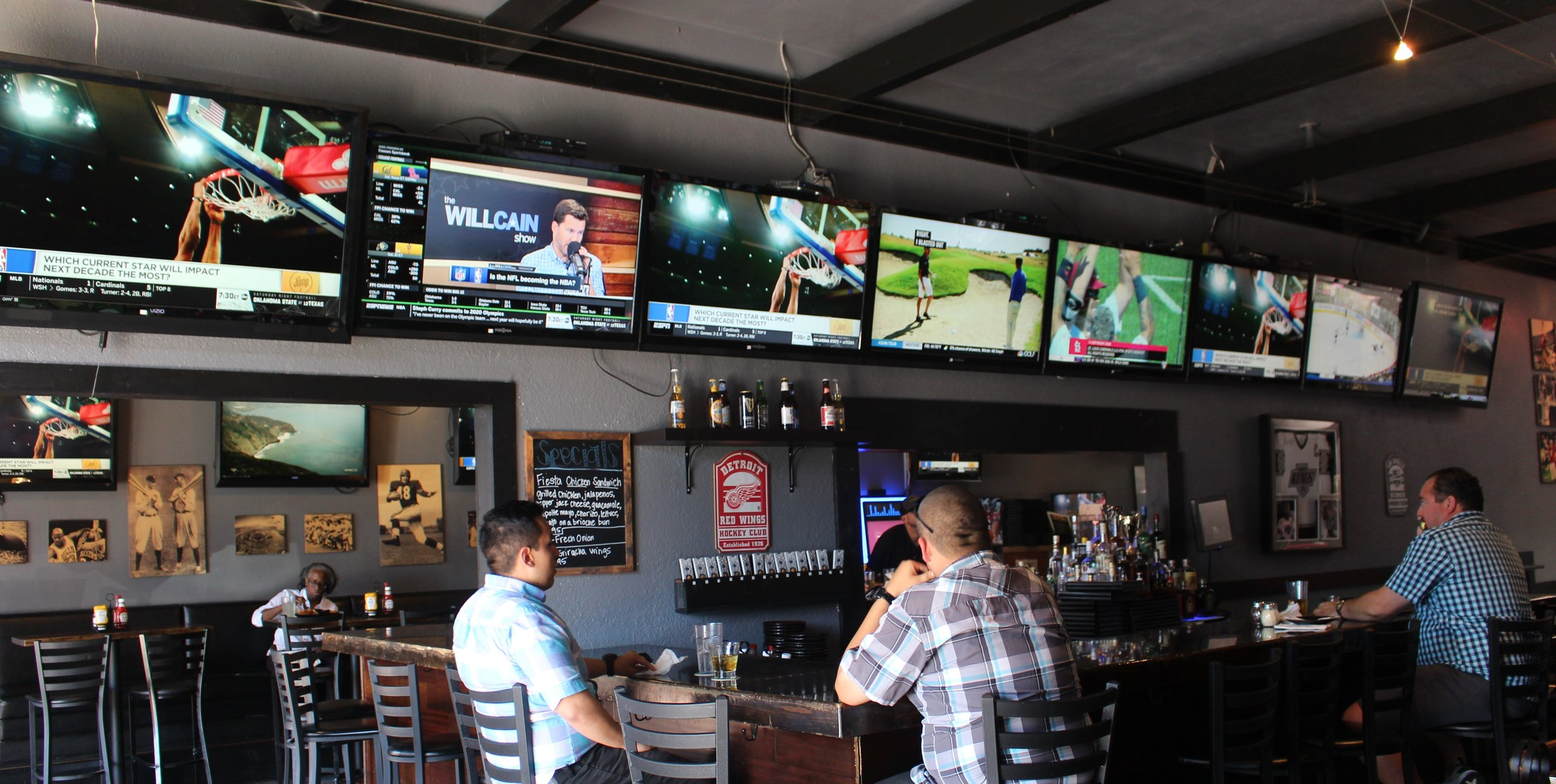 This sports bar is on the more modern and casual side.