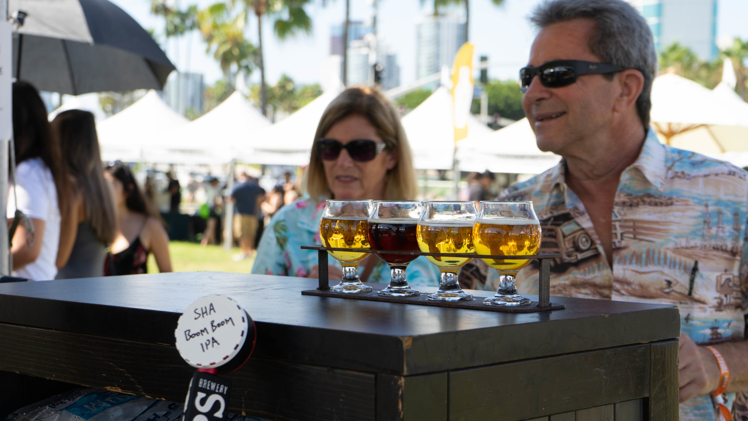 Each booth had a few different beers to sample. Some even served up specials made just for the event.
