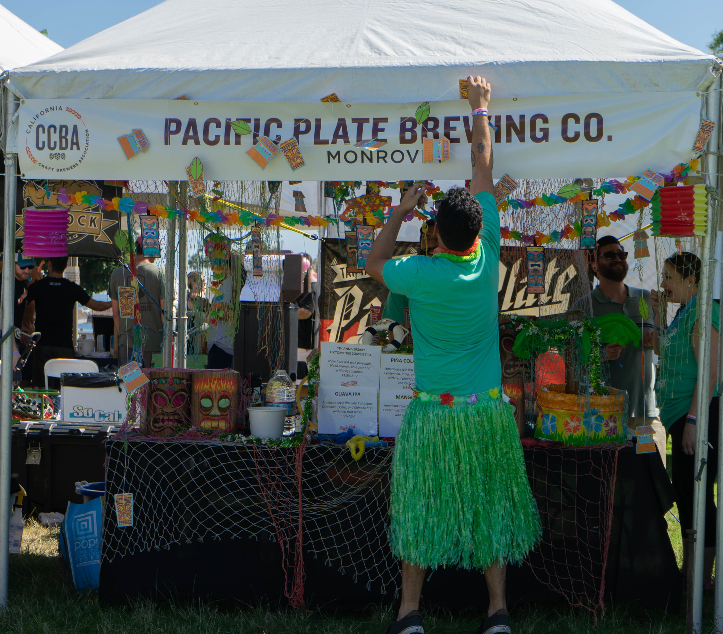 Many of the breweries had fun decorations and cool stickers to attract patrons to come sample their wares.