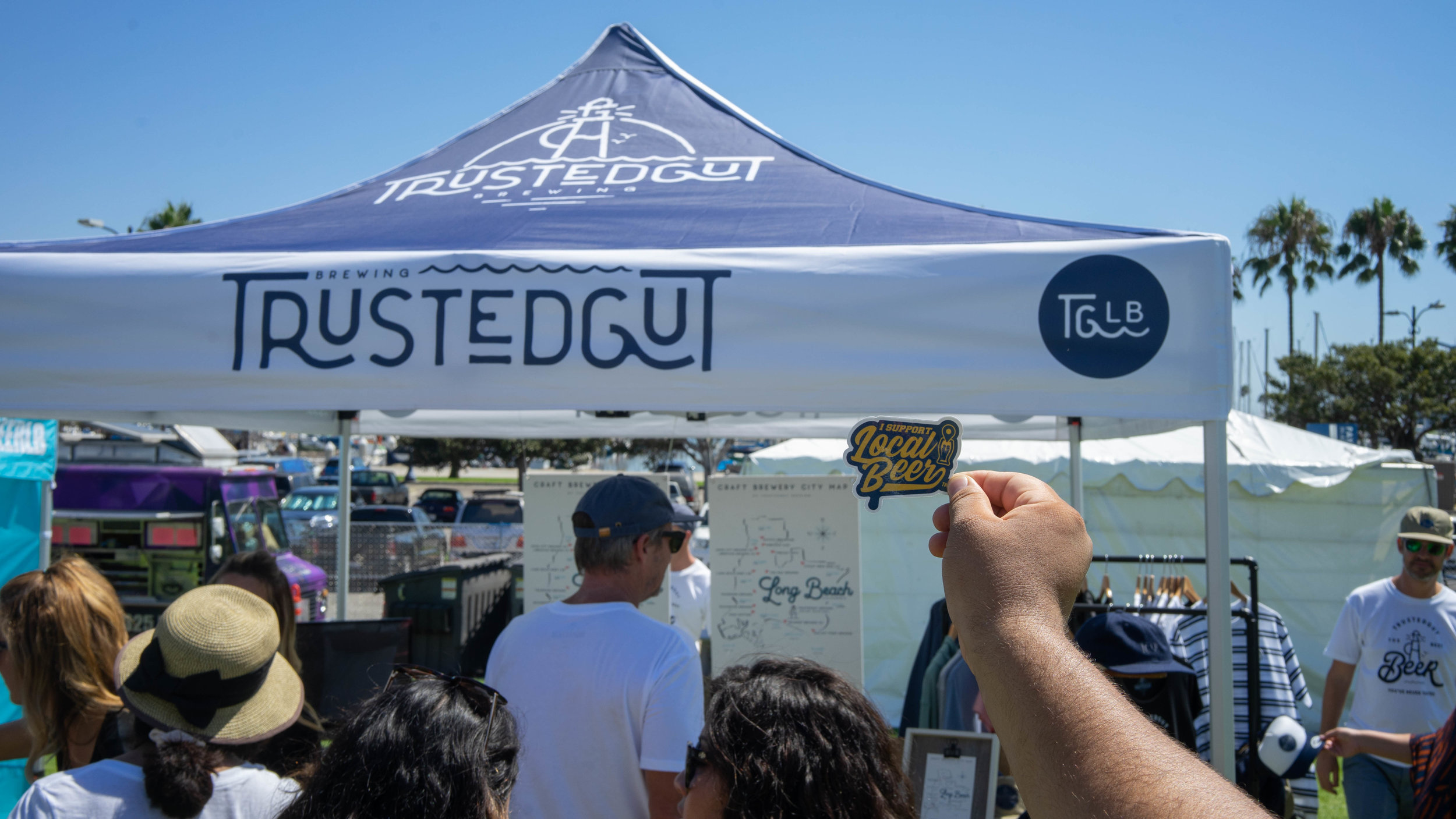 This was the first time the festival held an event outside Sacramento, CA. As such, the local breweries came out in full force.