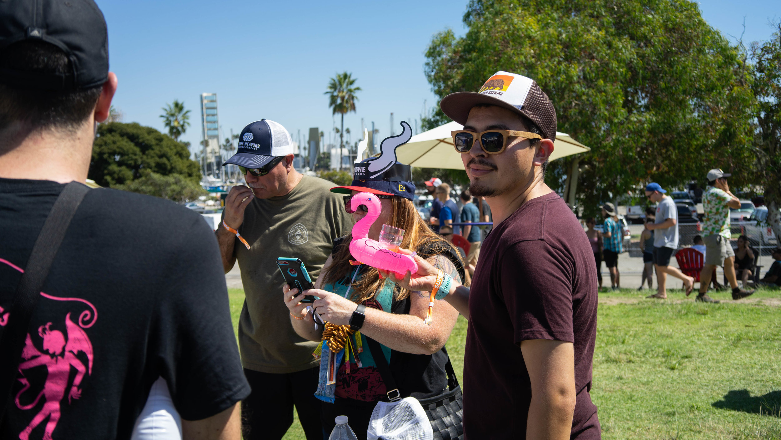 The festival was centered around fun, and everyone present had a pretty good sense of humor.