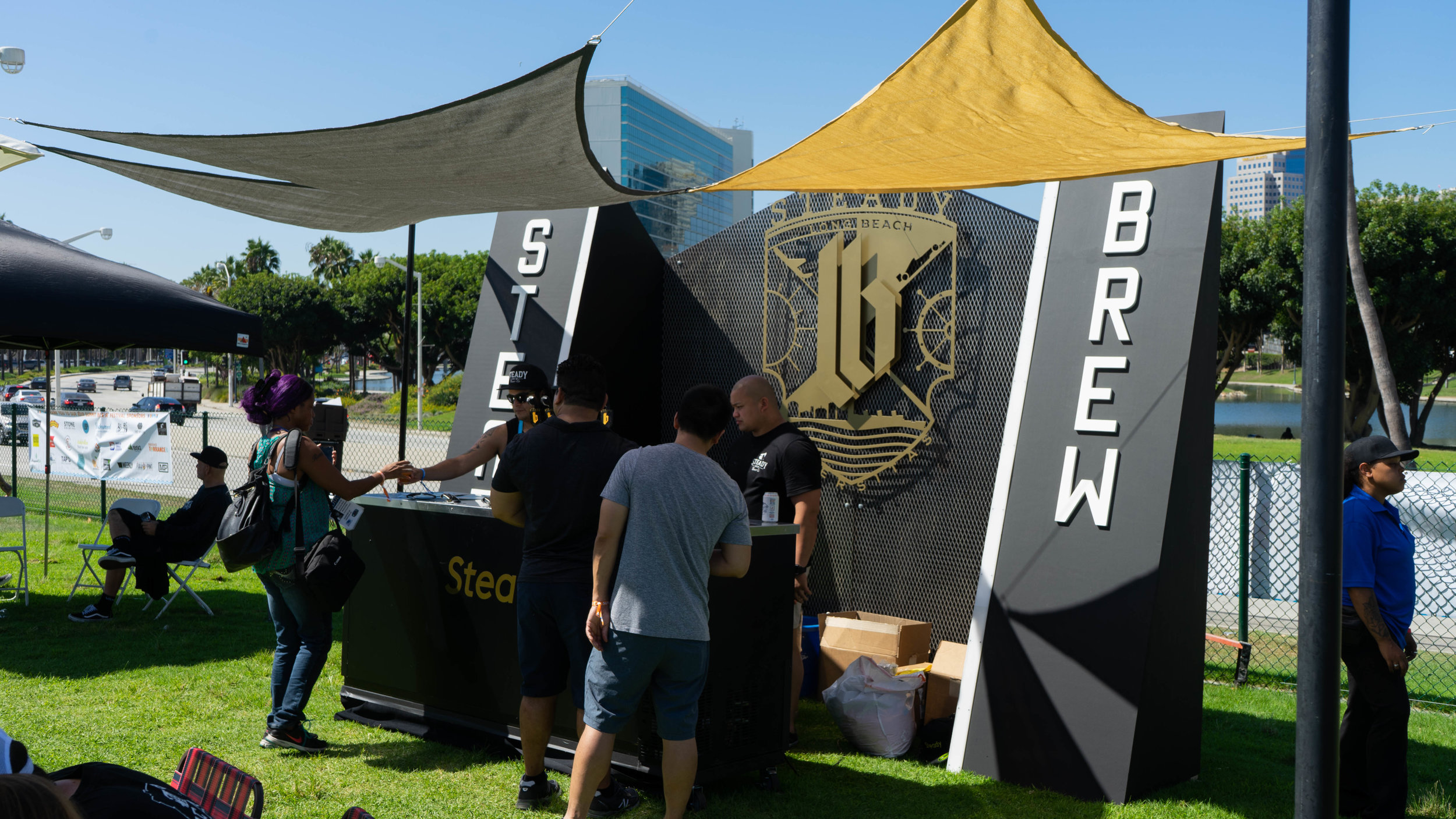 Long Beach's own Steady Brewing had a prominent display.