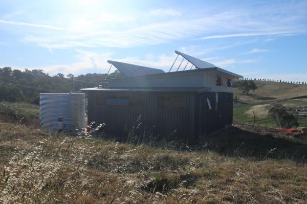 Solar panels on the garage