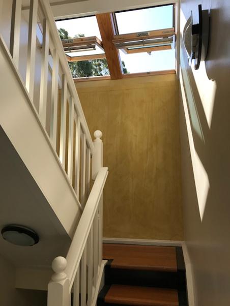 • Solar chimney, ventilating staircase