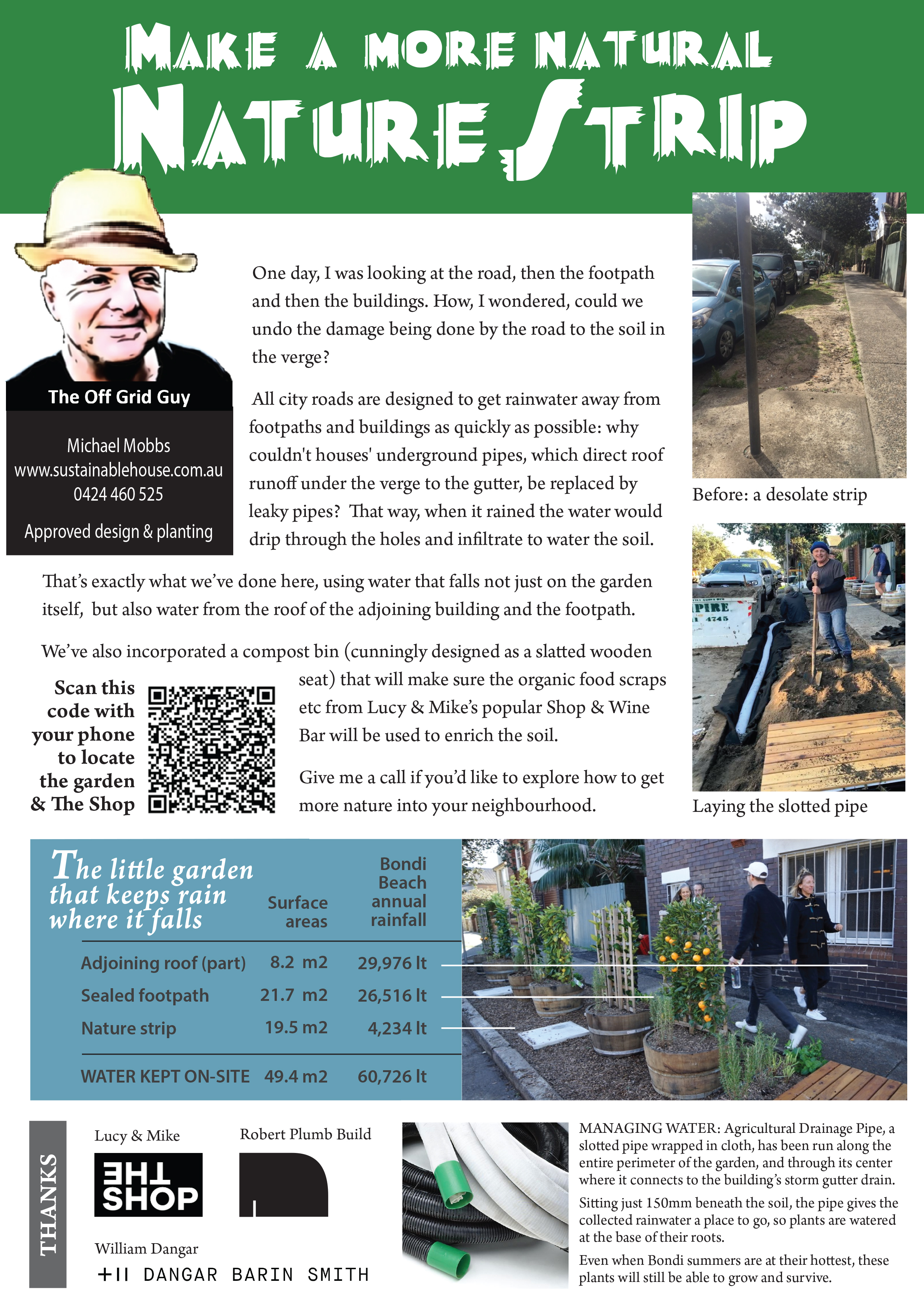 • Summary of how to make a more natural, self-watering nature strip