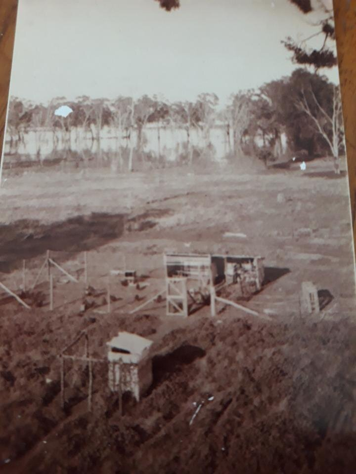 • Photo of my parents' farm during the four month 1956 flood of our farm, and taken from a Gypsy Moth biplane as the pilot dropped a sugar bag of food over to keep us going
